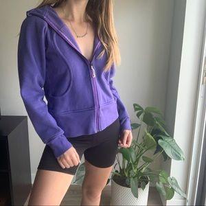 Lululemon Purple Scuba Zip Up Jacket Size 8